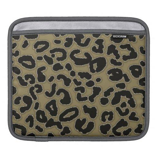 Dark Tan Leopard Animal Print iPad Sleeves