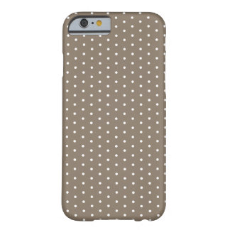 Dark Tan Polka Dot iPhone 6 Barely There iPhone 6 Case