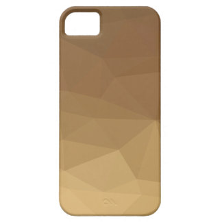 Dark Tangerine Abstract Low Polygon Background iPhone 5 Case