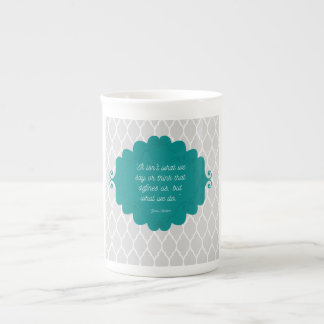 Dark teal elegant Jane Austen bone china mug