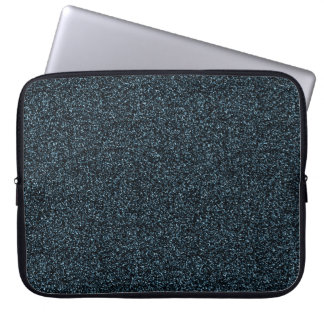Dark teal faux glitter laptop sleeve