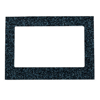 Dark teal glitter magnetic picture frame