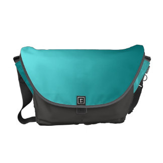 Dark Teal Ombre Courier Bag