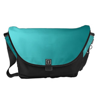 Dark Teal Ombre Large Courier Bag