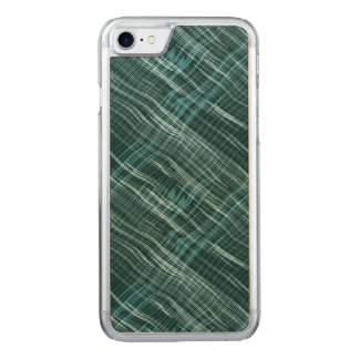 Dark Teal Pattern Carved iPhone 8/7 Case
