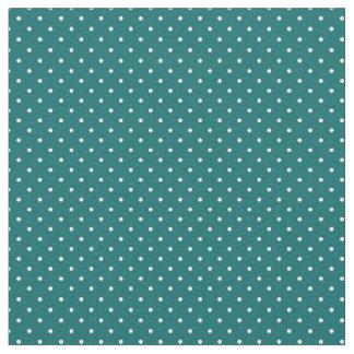 Dark Teal Tiny Dots Fabric