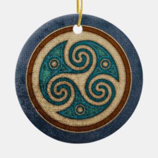Dark Triskele Pendant/Ornament Ceramic Ornament