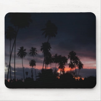 Dark Tropical Sunrise Mousepad