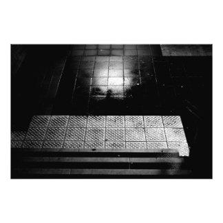 Dark tunnel photo print