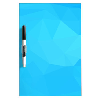Dark Turquoise Abstract Low Polygon Background Dry Erase Board