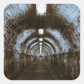 Dark underground tunnel sticker