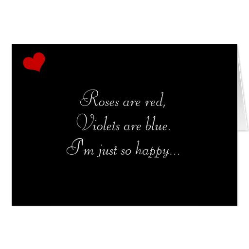 Dark Valentine Collection: Roses are Red... Greeting Card