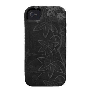 Dark Vector flowers abstract iPhone 4 Covers
