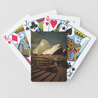 Dark view of Sydney Opera house Poker Deck