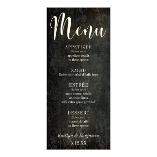 Dark Vintage Design w/ Cream Typography 30, Menu