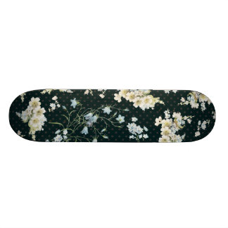Dark vintage flower wallpaper pattern skate decks