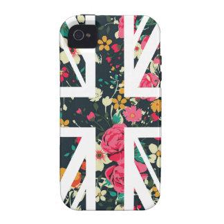 Dark Vintage Rose Union Jack British(UK) Flag Case For The iPhone 4