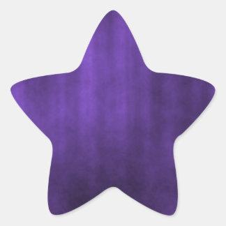 Dark Violet Striped Grunge Design Star Sticker