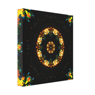 Dark Vs Light Mandala Canvas Print