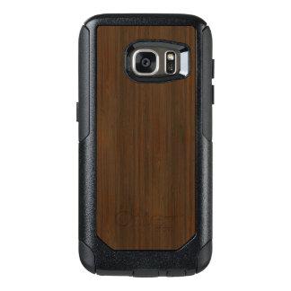 Dark Walnut Brown Bamboo Wood Grain Look OtterBox Samsung Galaxy S7 Case