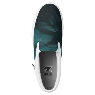 Dark wave slip on shoes printed shoes