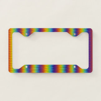 Dark Wavy Rainbow Licence Plate Frame