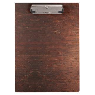 Dark weathered wood clipboard