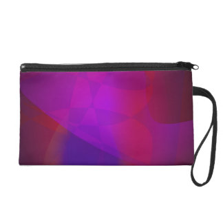 Dark Wine Simple Abstract Composition Wristlet Purses