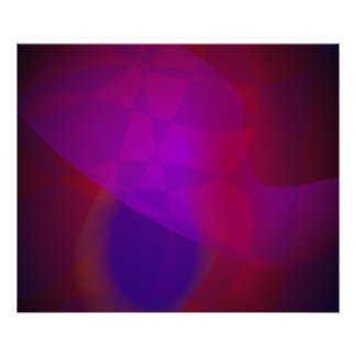 Dark Wine Simple Abstract Composition Poster