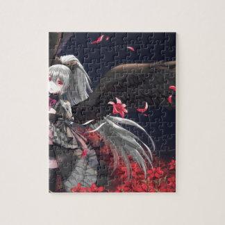 Dark Winged Angel Jigsaw Puzzle