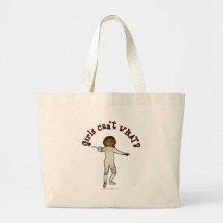 Dark Woman Fencing Tote Bags