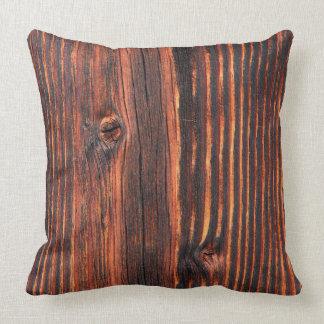 Dark wood board texture cushion
