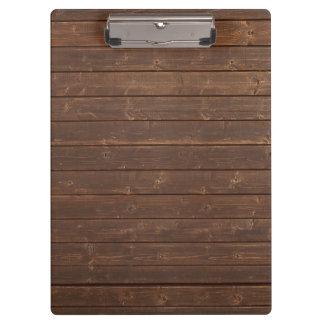 Dark wood boards clipboard