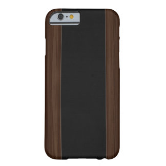Dark Wood & Carbon Fibre Stripe iPhone 6 case Barely There iPhone 6 Case