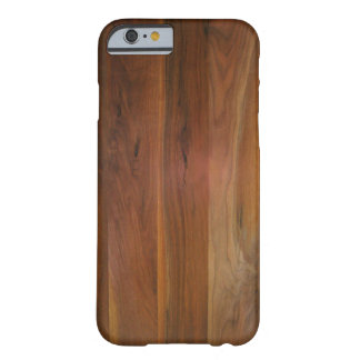 Dark Wood Grain Floor Barely There iPhone 6 Case