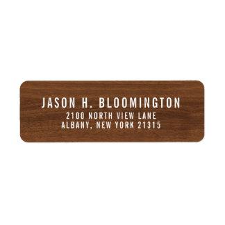 Dark Wood Grain | Return Address Return Address Label