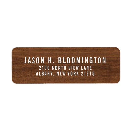 Dark Wood Grain   Return Address Return Address Label