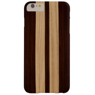 Dark Wood Rosewood Stripes Pattern Wood Grain Look Barely There iPhone 6 Plus Case