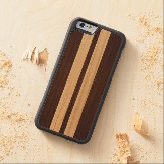 Dark Wood Rosewood Stripes - Wood Grain Look Maple iPhone 6 Bumper Case