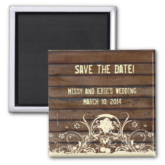 Dark Wood Save the Date Magnet