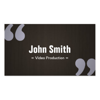 Dark Wood Video Production Business Card