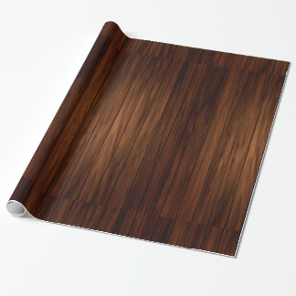 Dark Wood Wrapping Paper
