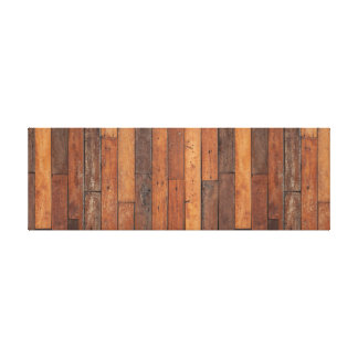 Dark Wooden Panel. Canvas Print