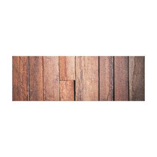 Dark Wooden Panel. Canvas Print