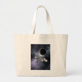 Dark World - Science Fiction Battle Cruiser Tote Bags