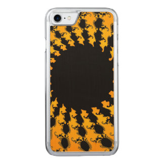 Dark Yellow Fractal Carved iPhone 7 Case