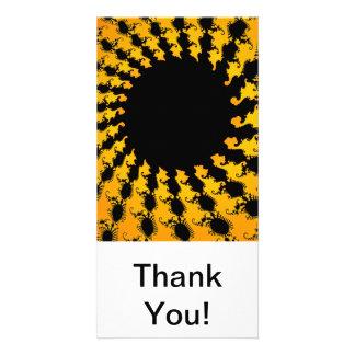 Dark Yellow Fractal Photo Cards