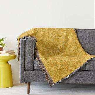 Dark Yellow Vintage Damask Pattern