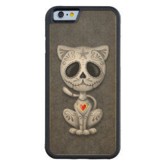 Dark Zombie Sugar Kitten Carved Maple iPhone 6 Bumper Case