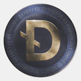 DarkCoin Classic Round Sticker